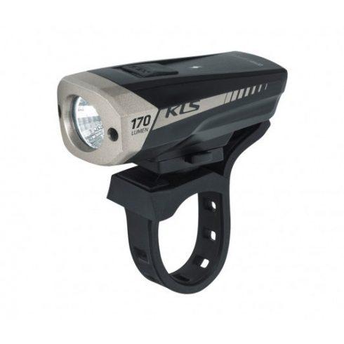 Kellys Spitfire fekete tölthető kerékpár első lámpa 2020